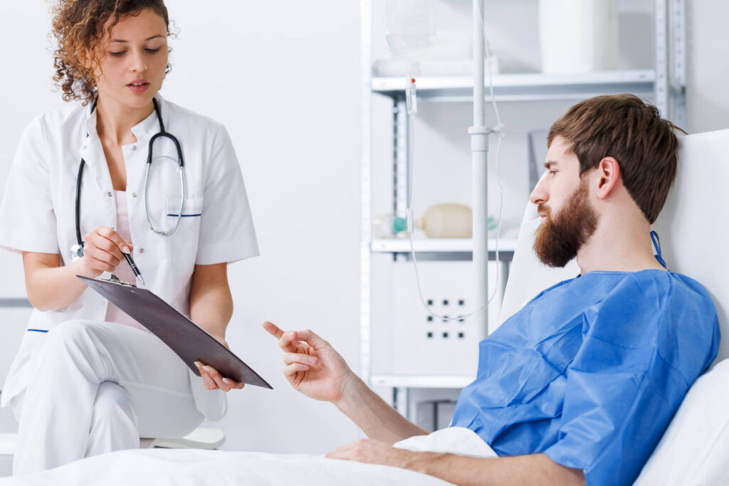 пациент в стационаре